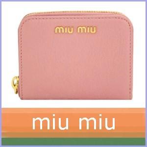 ミュウミュウ 小銭入れ カードケース ピンク 2015 新作 5M0268|model