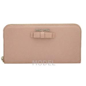 ミュウミュウ miumiu 財布 リボン レディース 長財布 ピンク 5M0506 model 02
