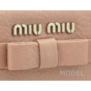 ミュウミュウ miumiu 財布 リボン レディース 長財布 ピンク 5M0506 model 05