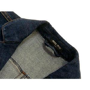 ミュウミュウ miumiu レディース デニムジャケット サイズ40(L) アウトレット|model|05