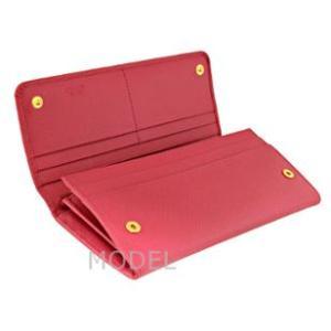 プラダ 財布 リボン ピンク レディース 長財布 人気 1M1132 アウトレット|model|03
