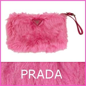 プラダ バッグ クラッチバッグ ピンク ファー 1N1530 アウトレット model