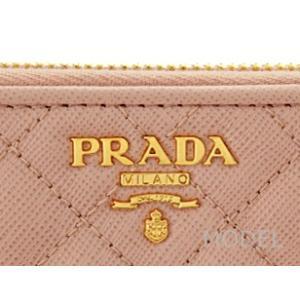 プラダ 財布 ピンク 長財布 キルティング サフィアーノ 1M0506 アウトレット|model|05