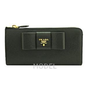プラダ 財布 レディース リボン L字ファスナー 長財布 サフィアーノ 1ML183 アウトレット|model|02