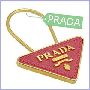 プラダ PRADA キーホルダー キーリング ピンク レディ...