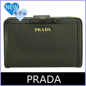 982414605c7a プラダ PRADA 財布 新作 レディース 二つ折り財布 黒/ブラック リボン 1ML225 アウトレット|model ...