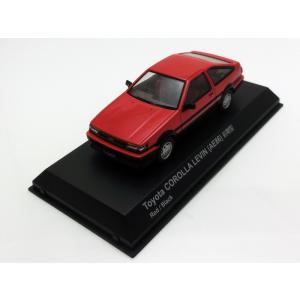 1/43 京商 ミニカー トヨタ カローラ レビン toyota COROLLA LEVIN (AE86)前期型 Red/Black|modelcarshop-ss43