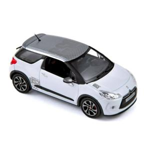 NOREV 1/43 (155276) CITROEN DS3 RACING 2010 - BANQUISE WHITE & GREY modelcarshop-ss43
