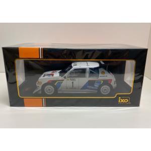 ixo models 1/18 (18RMC049A) Peugeot 205 T16 E2 #1 Rally Monte Carlo 1986 T.Salonen / S.Harjanne modelcarshop-ss43