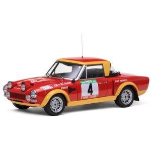 1/18 サンスター ミニカー フィアット124 アバルト No.4 ラリーポルトガル Fiat 124 Abarth #4 Rally Portugal 1975|modelcarshop-ss43