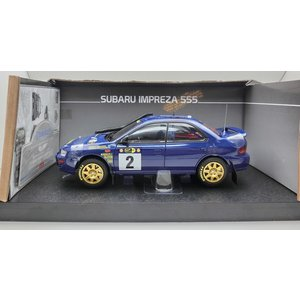 1/18 サンスター ミニカー スバル インプレッサ 555 サファリラリー ケニア Subaru Impreza 555 No.2 2nd Safari Rally Kenya 1996|modelcarshop-ss43