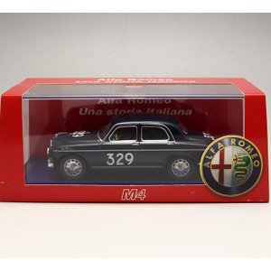 1/43 M4 ミニカー アルファロメオ  ミッレ・ミリア*ALFAROMEO 1900 TI Mille Miglia 1954-Cornaggia Medici / Grassi|modelcarshop-ss43