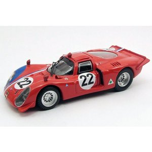 1/43 BEST Models ベストモデル ミニカー アルファロメオ ALFA ROMEO 33.2 Parigi 1968 #22|modelcarshop-ss43