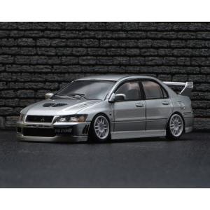 BM Creations Junior  1/64 (BM64B0086) Mitsubishi Lancer Evolution VII (Silver) RHD|modelcarshop-ss43