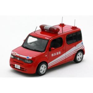 1/43 CAR-NEL ミニカー ニッサン Nissan Cube (Z12) 2009 横浜市消防局救命活動隊車両|modelcarshop-ss43