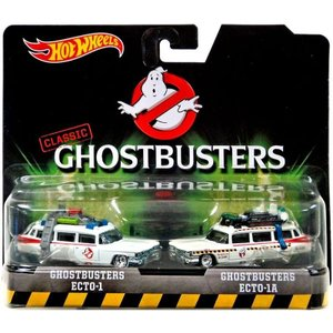 1/64 Hot Weels ミニカー ゴーストバスターズ classic ghostbusters ecto-1 and ecto-1a die-cast vehicle 2-pack modelcarshop-ss43