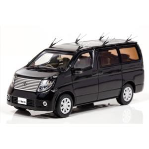 1/43 レイズ ミニカー Nissan ELGRAND (E51) 2008 警察本部警備部要人警護無線車両|modelcarshop-ss43