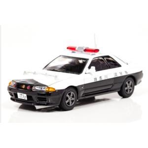 1/43 レイズ ミニカー Nissan SKYLINE GT-R (R32) 1993 神奈川県警察高速道路交通警察隊車両|modelcarshop-ss43