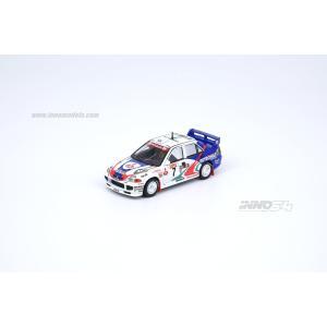 INNO Models 1/64 (IN64-EV03-AU96) Mitsubishi Lancer Evolution III Australia Rally 1996 #7 white/blue|modelcarshop-ss43