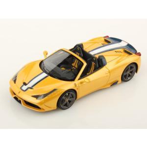1/43 ルックスマート ミニカー フェラーリ Ferrari 458 Speciale A Giallo Tristrato With Blue/White stripe|modelcarshop-ss43