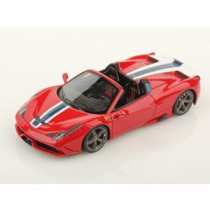 1/43 ルックスマート ミニカー フェラーリ Ferrari 458 Speciale Apperto Red (rosso Corsa) White/Blue stripes|modelcarshop-ss43