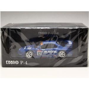 1/43 EBBRO P-4 ミニカー JGTC2002 スカイライン カルソニック GT-R R34 No.12 前期モデル|modelcarshop-ss43