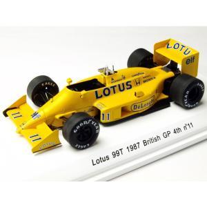 1/43 Reve Collection ミニカー ロータス 99T 1987年イギリスGP 4位 #11 中嶋悟|modelcarshop-ss43