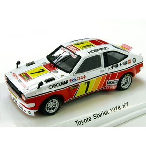 1/43 Reve Collection ミニカー トヨタ TOM'S スターレット 1978年富士マイナーツーリング #7|modelcarshop-ss43