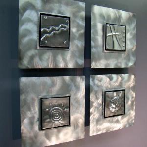 4 ELEMENTS インテリアアート リラックススタイル(癒し 芸術 アートパネル オフィスデコ)