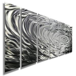 Ripple Effect インテリアアート デザイナーズ家具との相性抜群 (メタル抽象アートパネル、モダン彫刻インテリア、オフィスデコ、インテリアパネル、デザイン) modernfactory777 02