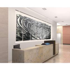 Ripple Effect XL インテリア アート(メタル 抽象アート モダン彫刻インテリア 北欧 アート オフィス 店舗 バー クラブ レストラン 商業装飾 ホテル)