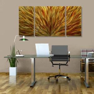モダン家具 Kindle the Flame III  (インテリアパネル モダン彫刻アート メタル抽象 オフィスデコ 北欧 カフェ cafe)