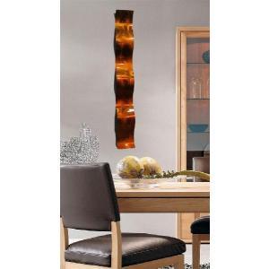送料無料!! インテリアアート Copper Wave (インテリアパネル モダン彫刻アート メタル抽象 オフィスデコ 北欧 カフェ cafe)
