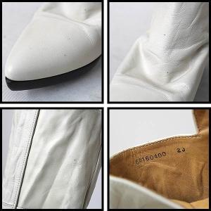 MIHARA YASUHIRO ミハラヤスヒロ ウェッジソールロングブーツ アイボリー 23cm レディース|modescape-ys|03