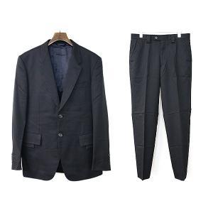 Paul Smith COLLECTION ポールスミス コレクション ホワイトステッチウールセットアップスーツ ブラック L メンズ|modescape-ys