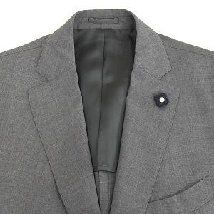 LARDINI ラルディーニ 17SS ウールピンヘッド3Bセットアップスーツ メンズ グレー 52|modescape-ys|06