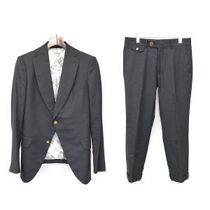 VivienneWestwood MAN ヴィヴィアンウエストウッド マン 17SS DLスーツ セットアップ ブラック 46 メンズ modescape-ys