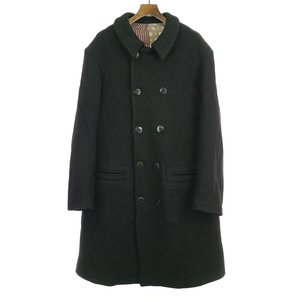 GEOFFREY B.SMALL ジェフリービースモール 18AW 1900's long double-breasted atelier work jacket reproduction ボイルドウールツイードダブルアトリエコート|modescape-ys