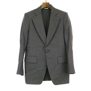 DRESSCAMP ドレスキャンプ ノッチドラペルストライプ1Bジャケット グレー 46 メンズ|modescape-ys