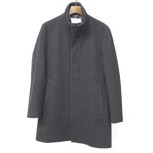 Calvin Klein Platinum カルバンクラインプラティナム ウールナイロンジップアップスタンドカラーコート ブラック 36 メンズ|modescape-ys