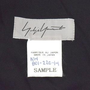 Yohji Yamamoto ヨウジヤマモト SAMPLE 19SS ショルダーデザインバックスリットロングドレスワンピース ブラック 1 レディース|modescape-ys|03