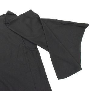 Yohji Yamamoto ヨウジヤマモト SAMPLE 19SS ショルダーデザインバックスリットロングドレスワンピース ブラック 1 レディース|modescape-ys|04