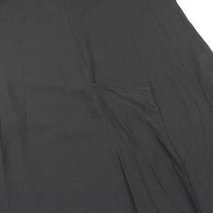 Yohji Yamamoto ヨウジヤマモト SAMPLE 19SS ショルダーデザインバックスリットロングドレスワンピース ブラック 1 レディース|modescape-ys|05