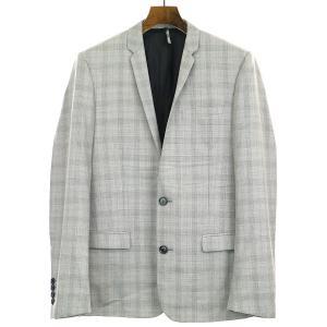 Dior HOMME ディオールオム 11SS シャドウチェックナローラペルセットアップスーツ グレー 46 メンズ|modescape-ys