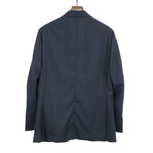 CARUSO カルーゾ 19AW butterfly SUPERFINE 130'S ウールストライプセットアップスーツ ネイビー 50 メンズ|modescape-ys|02