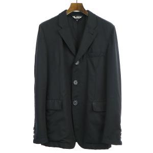 BLACK COMME des GARCONS ブラック コムデギャルソン 10SS パッカリング3Bウールテーラードジャケット ブラック M メンズ|modescape-ys