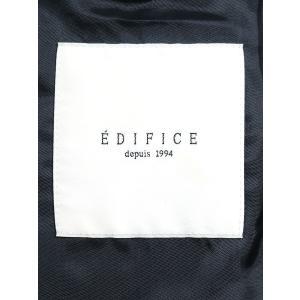 EDIFICE エディフィス カシミヤナイロンダブルポロコート ネイビー M メンズ modescape-ys 03
