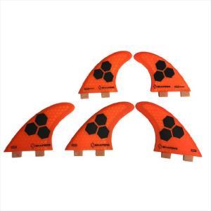 ◆商品:SHAPERS FINS FCS 5フィン AM2 FCS対応 5枚セットORANGE FI...