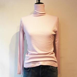 綿 ガーゼ 長袖 タートルネック ハイネック ボトルネック さらさらコットンTシャツ modiste|modisteclub