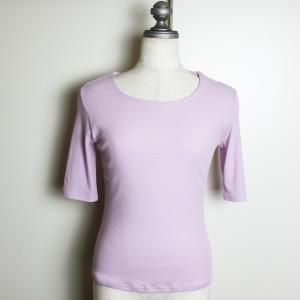 綿 ガーゼ Tシャツ 5分袖 クルーネック 丸襟 さらさら コットン 大人 modiste|modisteclub